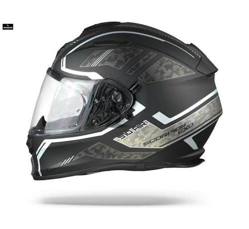 Scorpion EXO-510 AIR OCCOLTA Matt Black-Silver helm