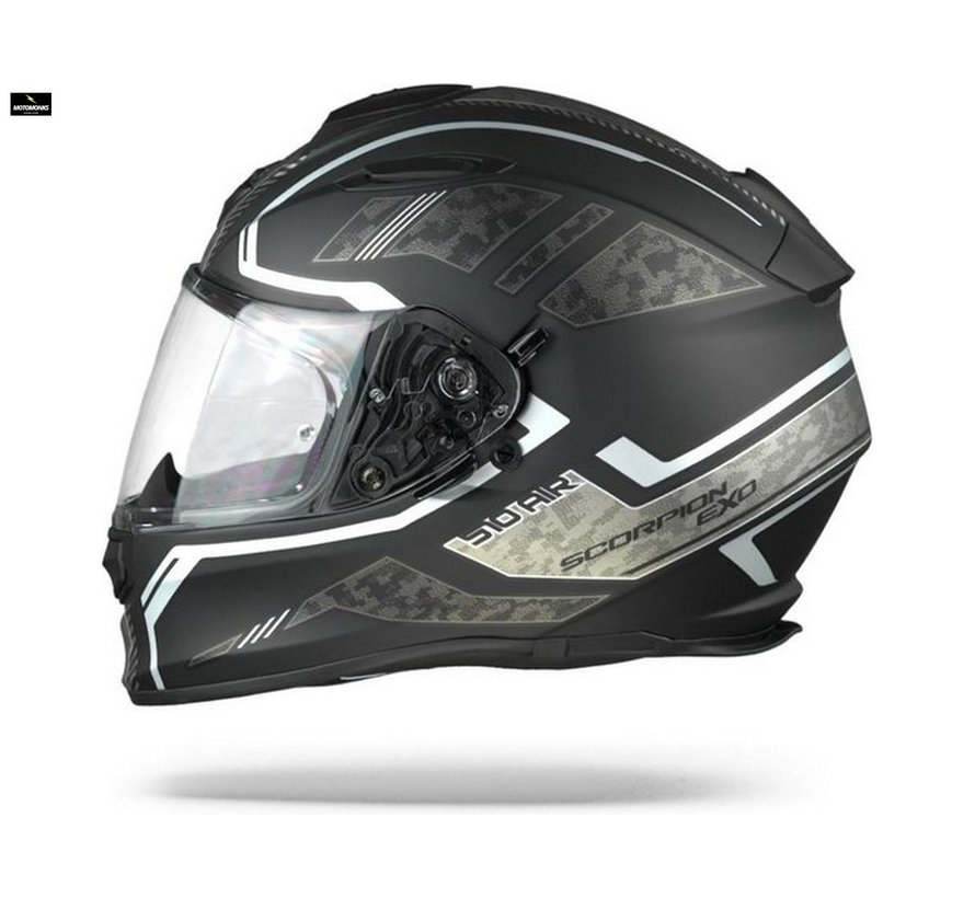 EXO-510 AIR OCCOLTA Matt Black-Silver helm