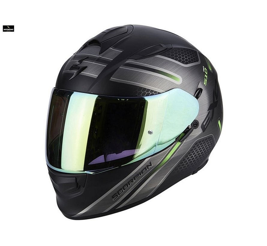 Exo 510-air Route matt black/ green helm
