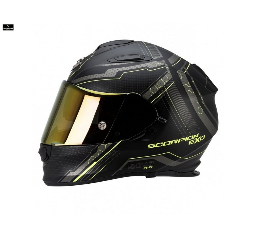 Exo 510-air Sync matt black/ neon yellow helm