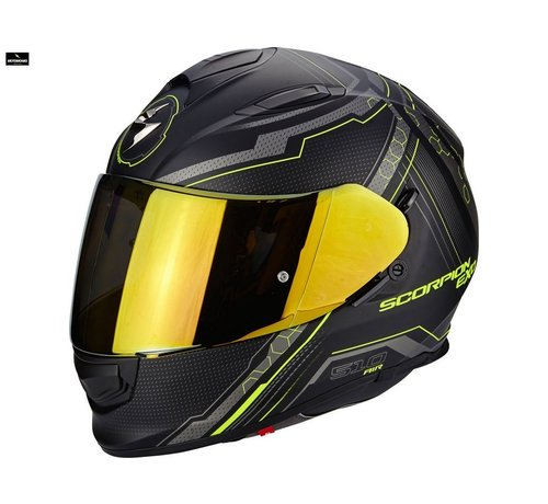 Scorpion Exo 510-air Sync matt black/ neon yellow helm