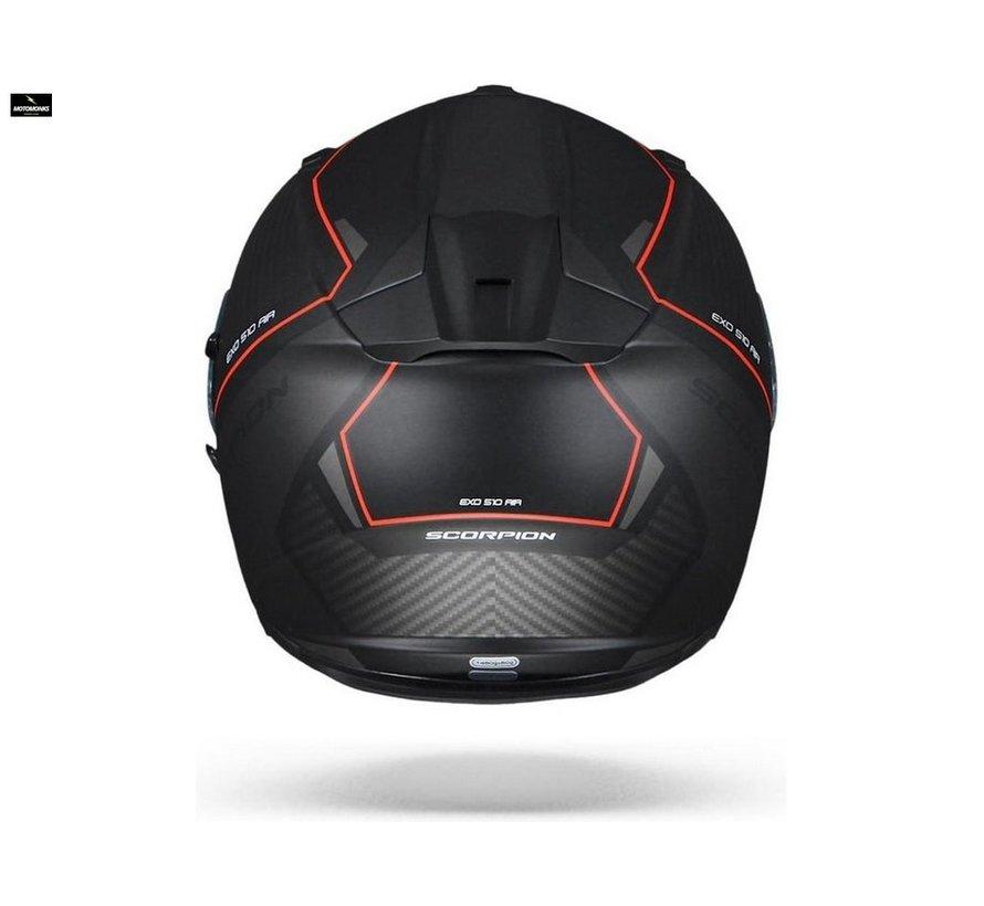 Exo-510 Air Frame Matt Black-Red helm