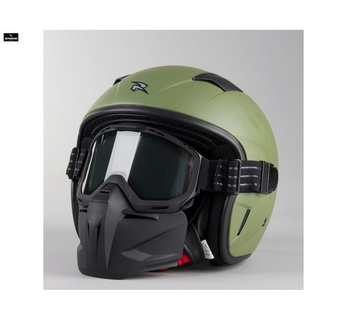 RXA Jaws motorhelm groen