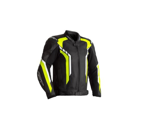 RST Axis Leather Zwart/ Fluo Geel