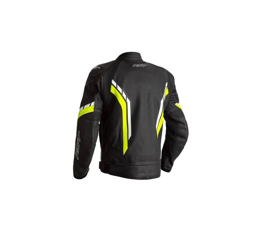 Axis Leather Zwart/ Fluo Geel