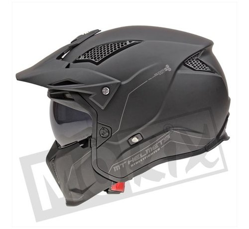 MT-Helmets Helm Streetfighter SV Mat Zwart