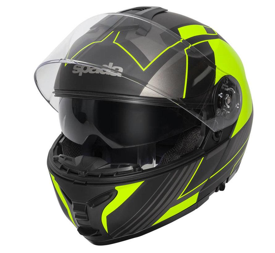 Orion Whip Helm Zwart/Fluo