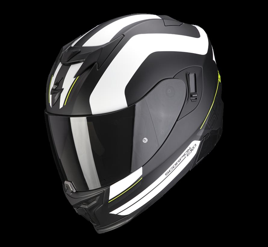 EXO-520 AIR LEMANS Mat Zwart Zilver Wit