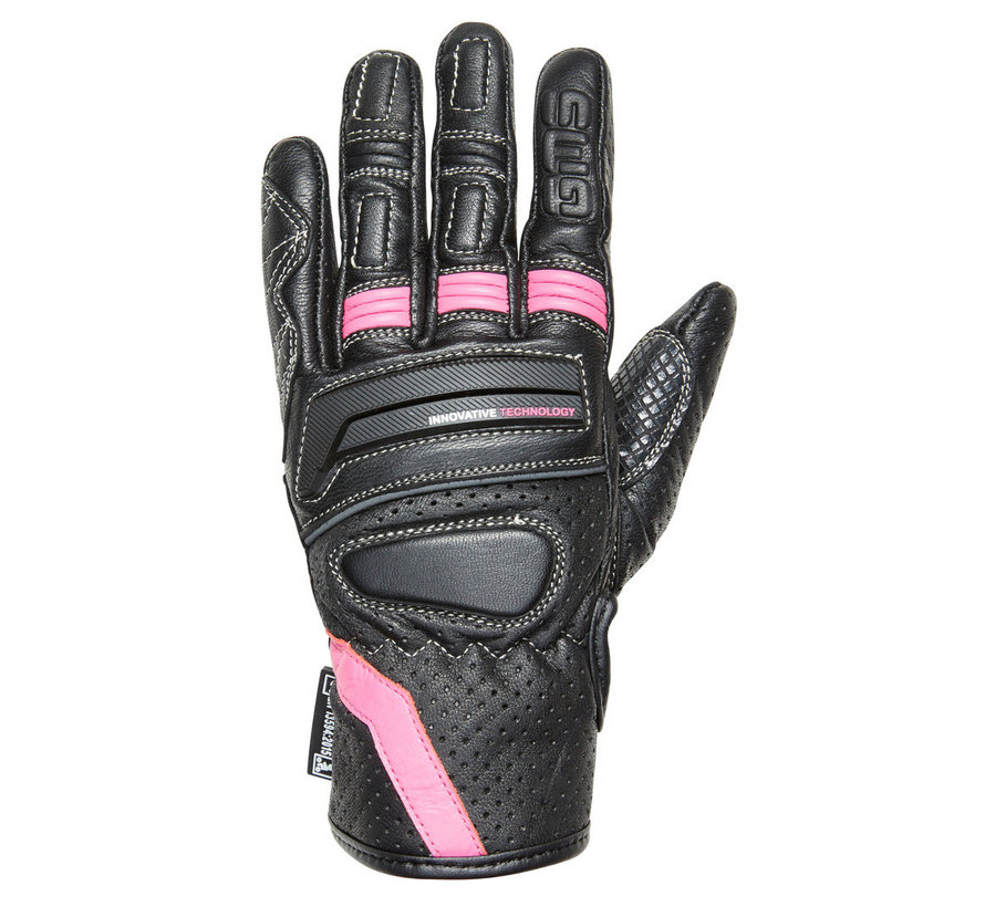 Handschoen Navigator Dames Zwart Roze