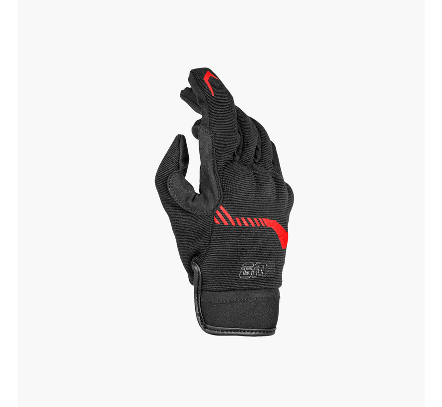 Handschoen Jet-City Zwart Rood