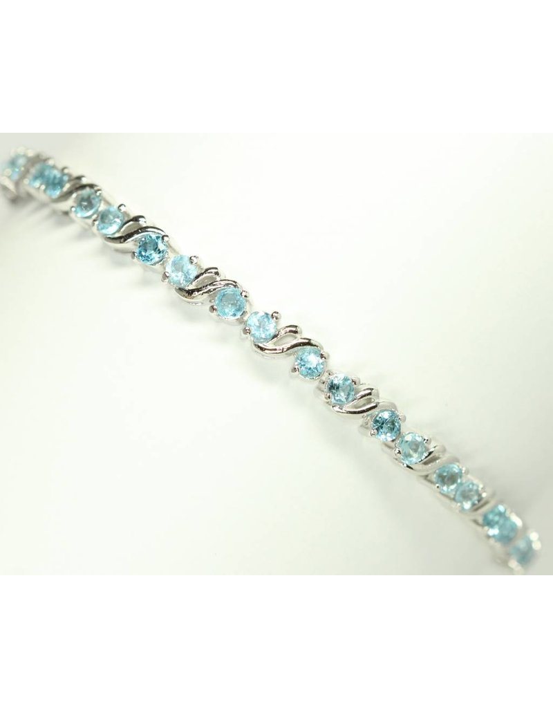 bracelet topaze bleue