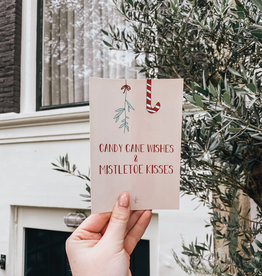 Pluk Amsterdam MISTLETOE KISSES CHRISTMAS CARD
