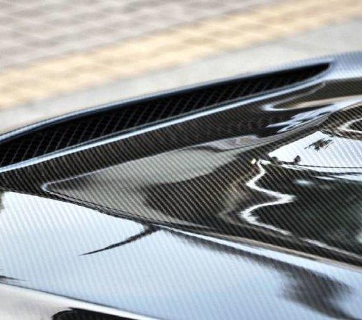 Carbon engine hood