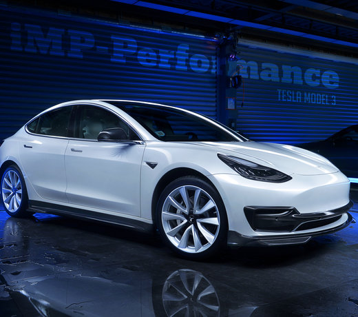 Tesla Model 3 carbon parts