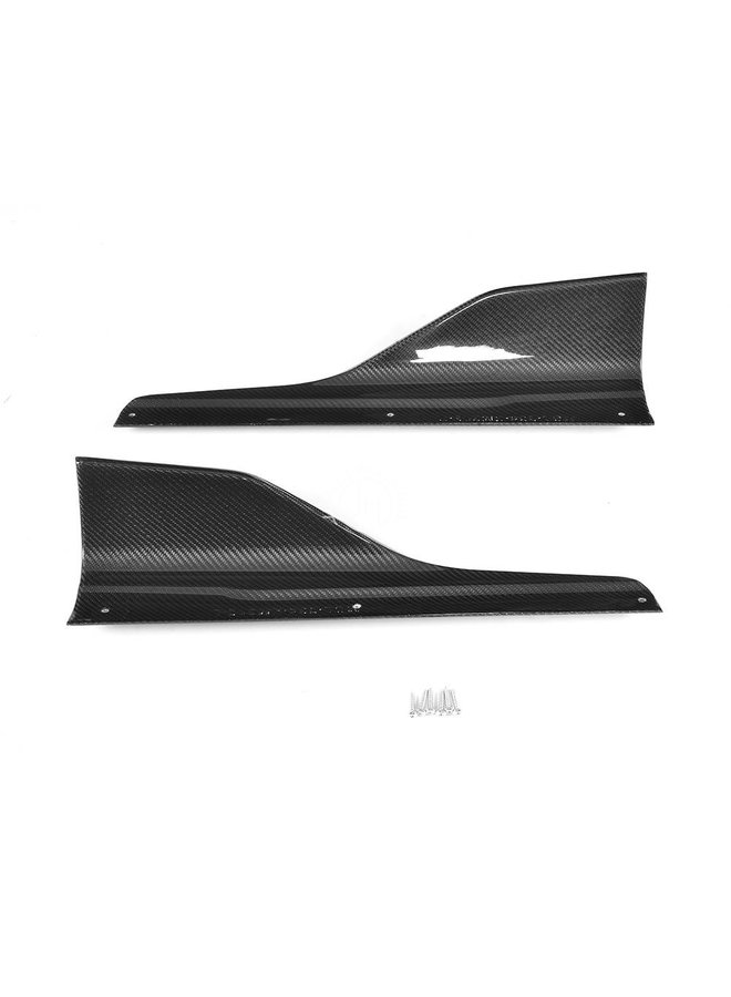 Carbon M performance style side skirt extension  F87 M2