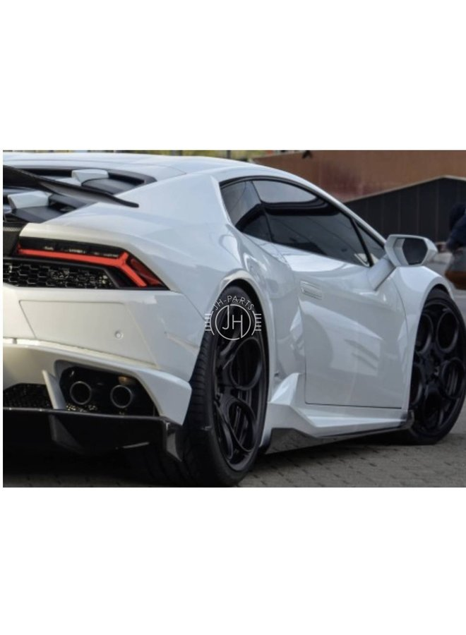 Lamborghini huracan Carbon DM Style side skirt extension
