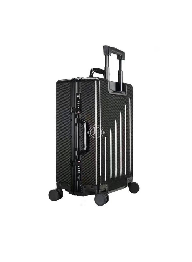 Carbon hand luggage travel trolley