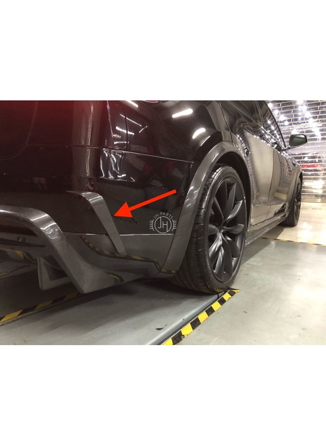 carbon achterbumper canards Tesla Model X