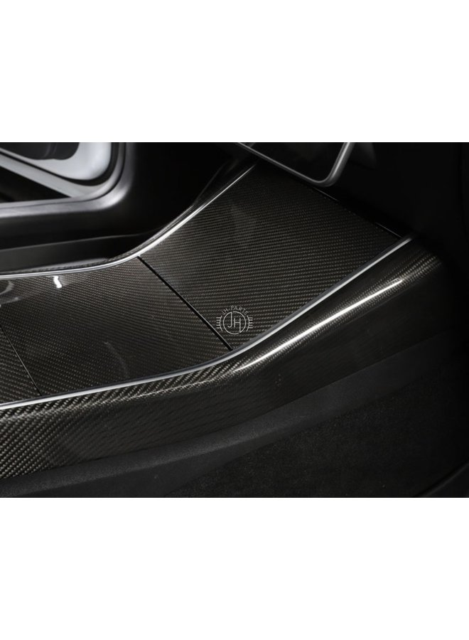 Carbon middelconsole rand cover Tesla Model 3