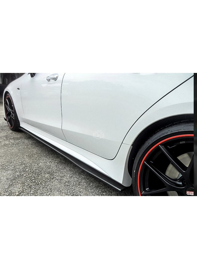 Carbon side skirts C257 CLS