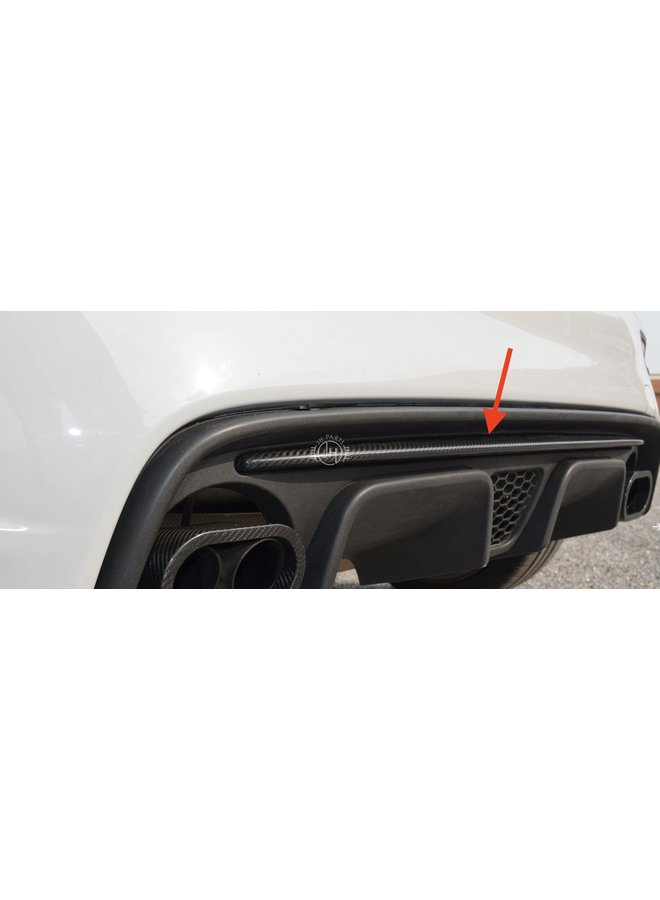 Fiat 595 Abarth Carbon diffuser strip