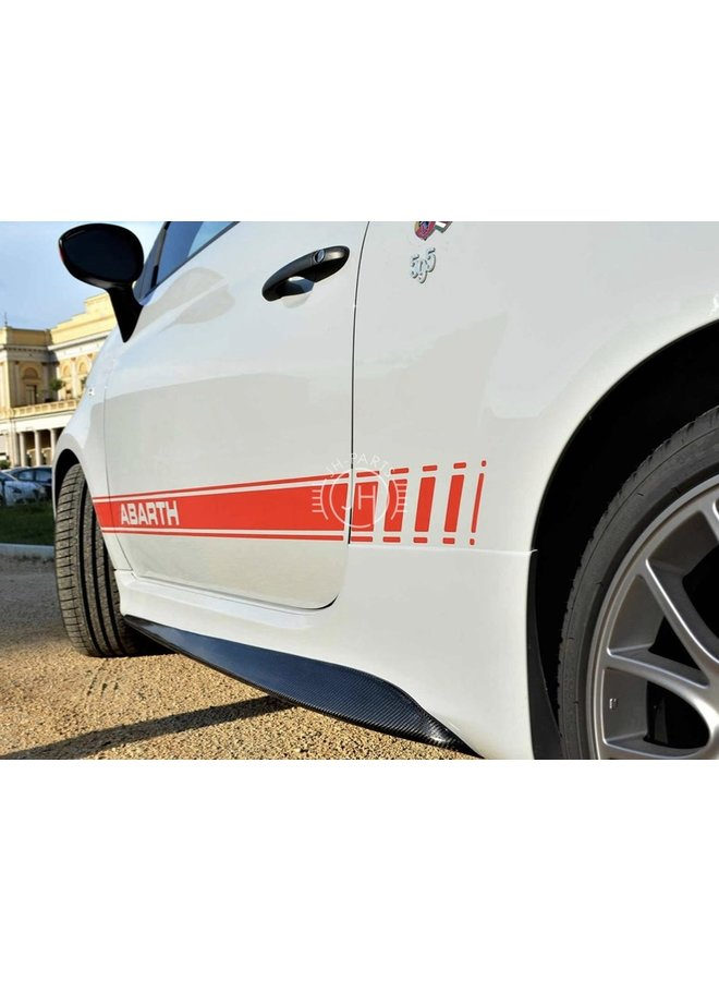 Carbon side skirts Fiat 500 595 Abarth