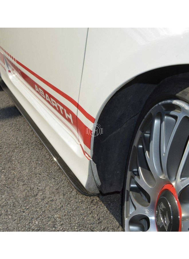 Carbon side skirt extensions Fiat 500 595 Abarth
