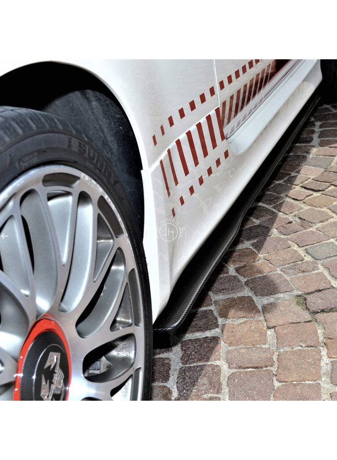 Fiat 500 595 Abarth Carbon side skirt extensions