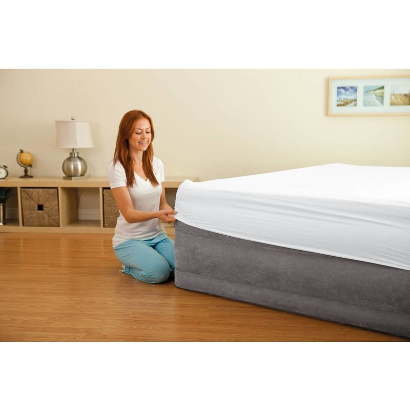 Intex Queen Comfort Plush Elevated Airbed Kit