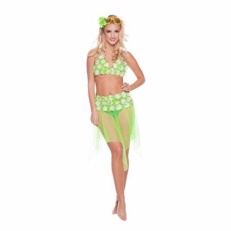 Beach party kleding set groen