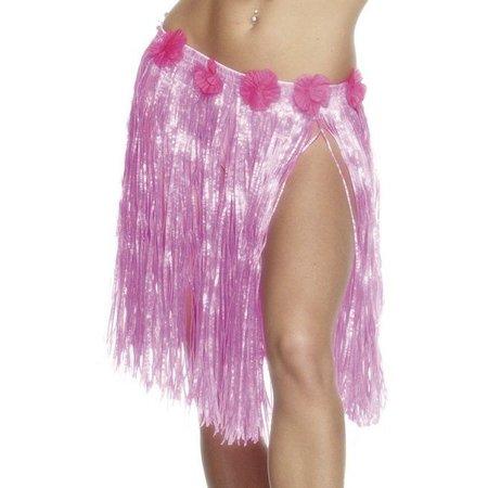 Hawai rokje neon pink 46 cm