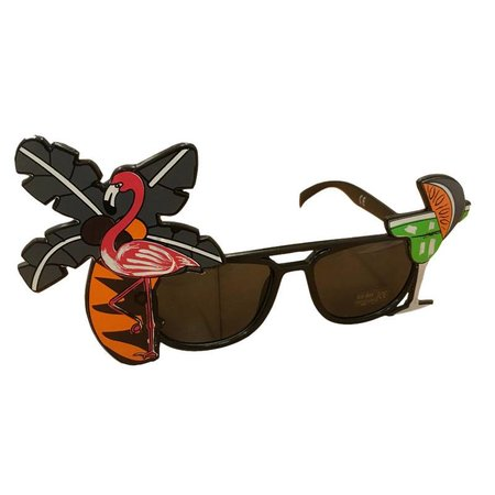 Feestbril Hawaii zwart