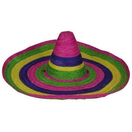 Strohoed Sombrero Mexico groot