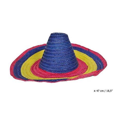 Hoed sombrero 3 kleuren