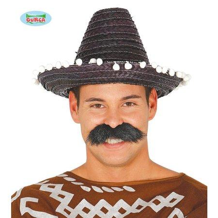 Mexicaanse sombrero zwart 33cm