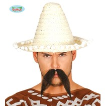 Mexicaanse sombrero naturel 33cm