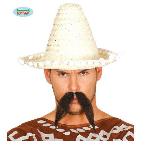Mexicaanse sombrero naturel 33cm