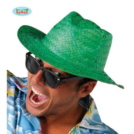 Zomer hoed stro groen