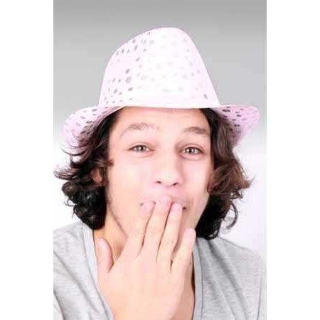 Sunny hoed metallic pink