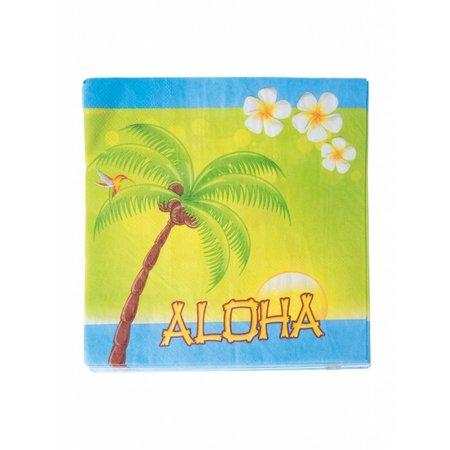 20 Tropische Aloha servetten
