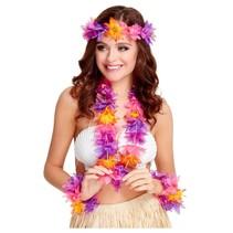 Hawaii verkleedset multikleur