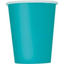 14 Caribbean Teal drinkbekers
