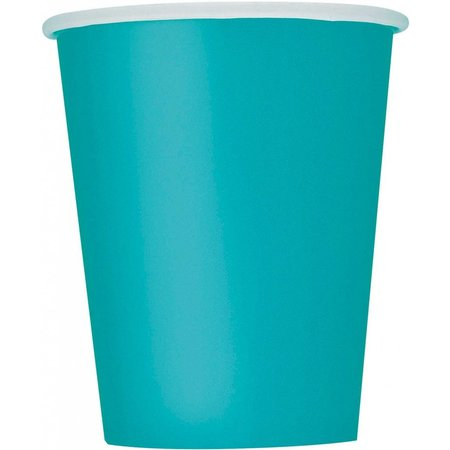 14 Caribbean Teal drinkbekers