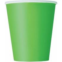 14 Lime groene drinkbekers