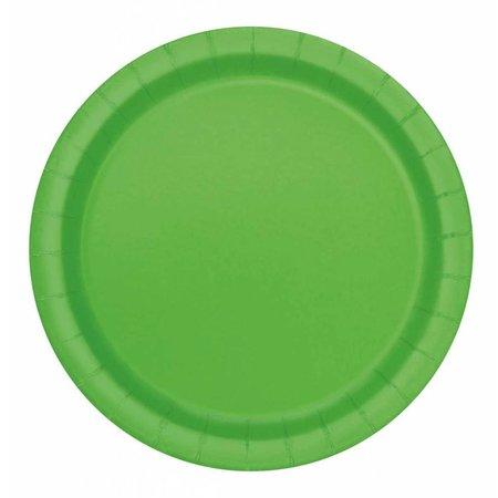 Feestborden Lime groen 23cm