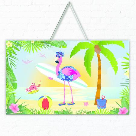 Hawaii Deurbord Flamingo 3D