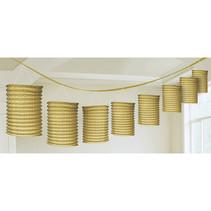 Lampion slinger goud 365cm