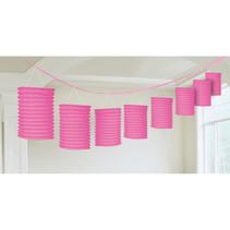 Lampion slinger pink 365cm