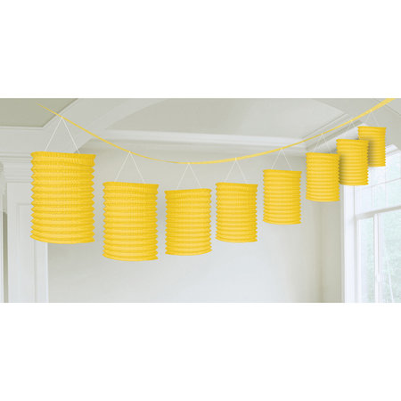 Lampion slinger geel 365cm