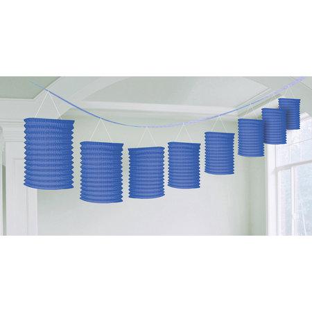 Lampion slinger blauw 365cm